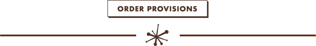 Order Provisions