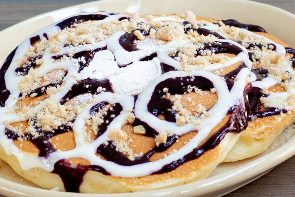 Blueberry Danish Pancakes