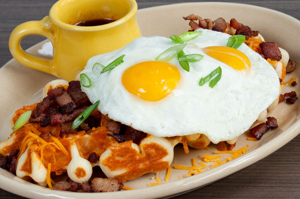 Bacon, Egg & Cheese Waffles